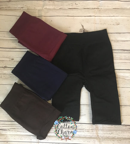 Basic Fleece Lined Leggings - Cotton Charm Boutique