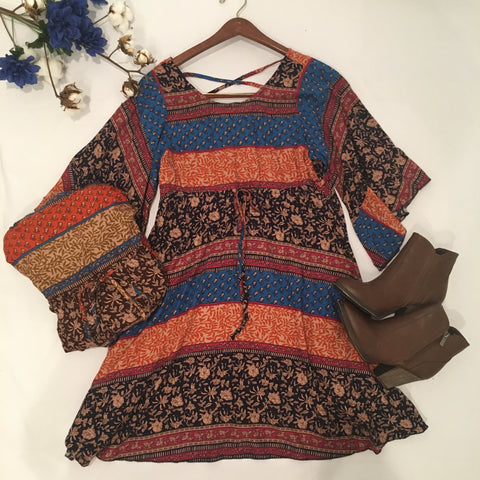 Once in a Lifetime Tribal Print Dress - Cotton Charm Boutique