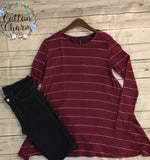 Line Up For This Striped Top - Cotton Charm Boutique