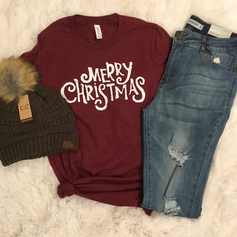 Merry Christmas Tee - Cotton Charm Boutique