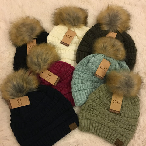 CC Pom Pom Beanie - Cotton Charm Boutique