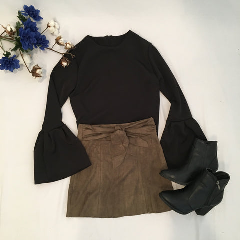 Simply Sweet Suede Skirt - Cotton Charm Boutique