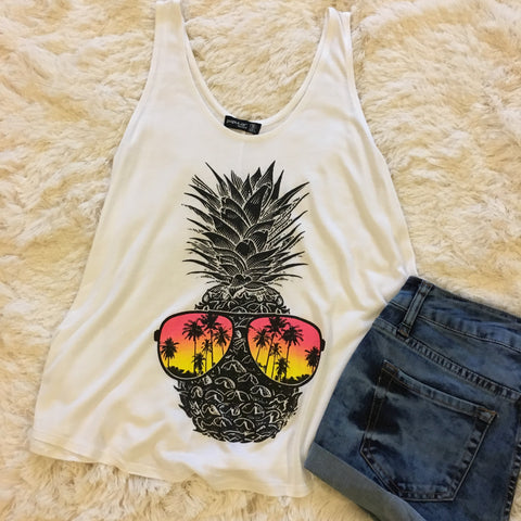 Nothing but Sunshine Tank Top - Cotton Charm Boutique
