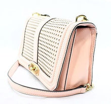 Rebecca Minkoff Love Perforated Leather Flap Cross Body Bag Quartz $325 NEW