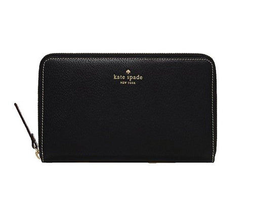 Kate Spade Grand Street Black Travel Passport Organizer Wallet $248+ NEW