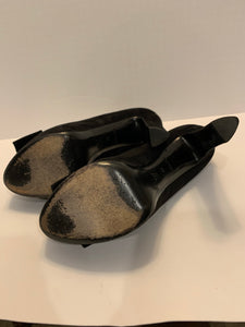 Louis Vuitton black suede platform heels 38