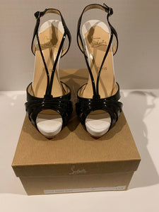 Christian Louboutin Activa 120mm Black/White patent pumps