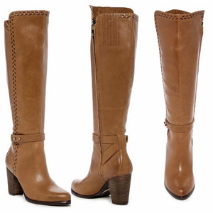 UGG Claudine tall knee high boots in chestnut brown leather