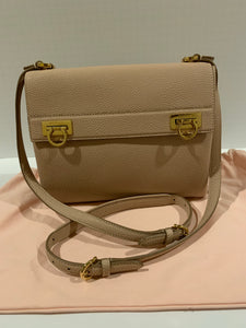 Salvatore Ferragamo Gancini Pebbled Crossbody