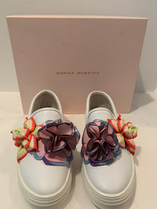 Sophia Webster white Lilico Sneakers Size 40.5