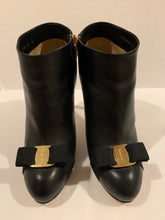 Ferragamo Women's Black Booties Royal Vara Heels size 9