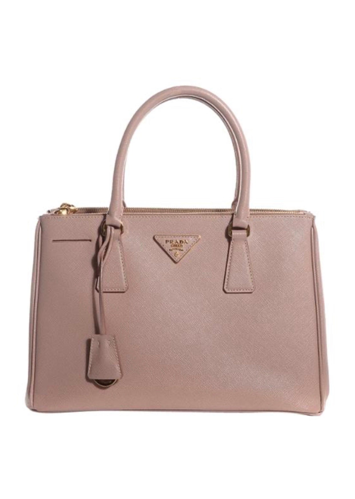 Prada Galleria medium satchel crossbody tote-blush