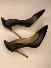 Valentino extreme heel black nappa leather pumps 39/9