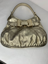 Gucci Queen Bow GG Gold Leather Large Hobo Shoulder Bag