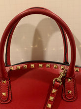 New Valentino Garavani Rockstud Red Tote Shoulder Bag