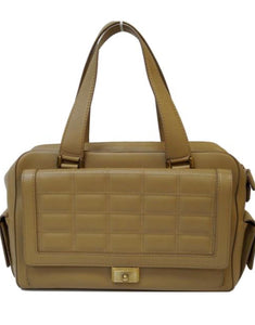 Jimmy Choo Catherine quilted beige tan calfskin leather satchel