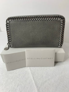 Stella McCartney Grey Falabella zip around wallet