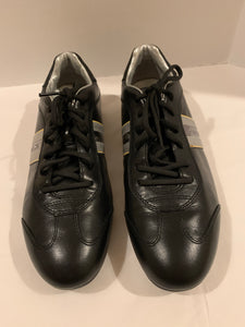 Prada Mens black leather sneakers size 7.5