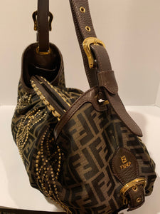 Fendi Limited Edition Large Studded Hobo Bag RARE