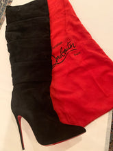 Christian Louboutin Ishtar Botta Ruched Suede Knee High Boots Size 42