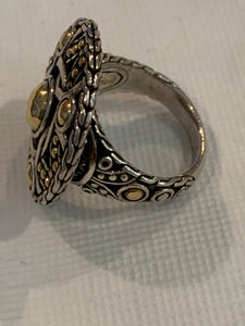 John Hardy Bulan Coin Ring 22kt Gold and Silver 7