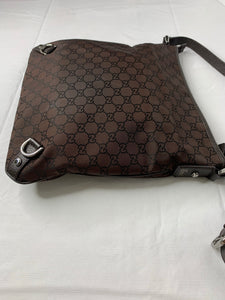 Gucci Abbey D-Ring Guccisimma GG Nylon messenger crossbody bag