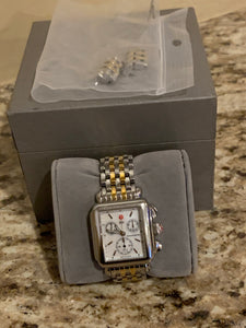 Michele Deco MOP ladies two tone watch MW06A00A0025