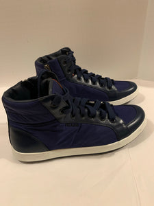 Prada nylon leather high top mens sneakers 4T 2842