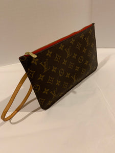 Louis Vuitton Neverfull MM Monogram/Cherry Pouch wristlet