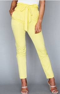 Yellow Paper Bag Pants
