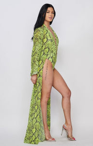 Snake My Day Lime Mesh with Bodysuit