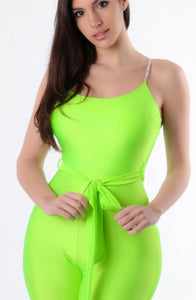 Lime Party Jumpsuit