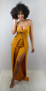 Surprise Mustard Wide Leg Jumpsuit