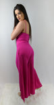 Surprise Fuchsia Wide Leg Jumpsuit