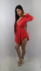 red Tunic Shirt and Shorts Set