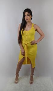 Yellow Knit Dress