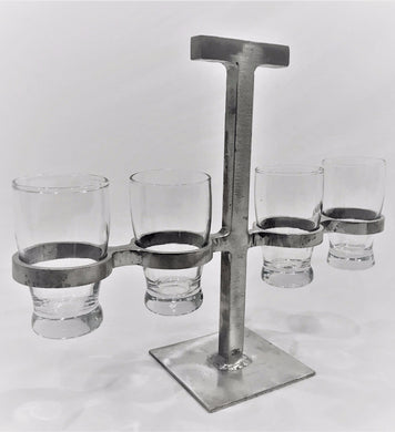 Direct Flight - Handmade Beer or Whiskey Tasting Flight with Glassware (5-pieces)