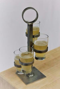 Puddle Jumper - Handmade Beer or Whiskey Flight Tower with Glassware (5-pieces)