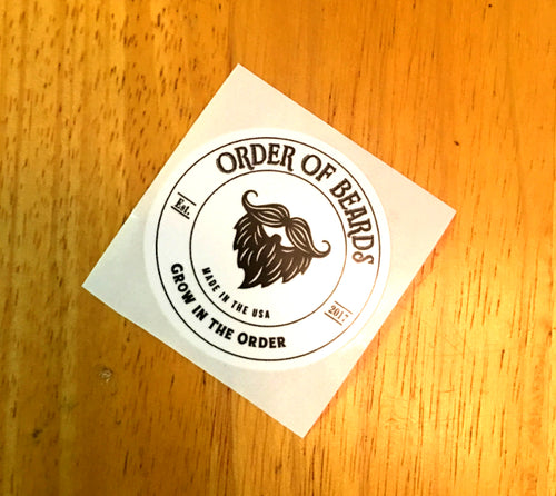 Order of Beards Stickers