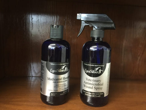 Skin Care Kit – EquiSilver Medicated Shampoo | EquiSilver Veterinary Wound Spray
