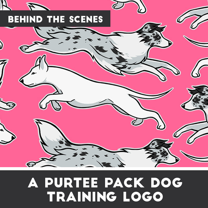 A Purtee Pack's Dog Training Logo [Behind the Scenes]