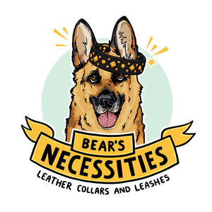 Bear's Necessities Custom Dog Collar Business Logo