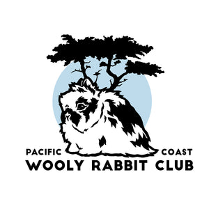 Pacific Coast Jersey Wooly Rabbit Club Logo Custom Rabbit Club Logo