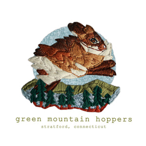 Green Mountain Hoppers Custom Embroidered Farm Logo
