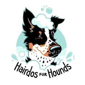 Hairdos Fur Hounds Custom Dog Groomer Logo
