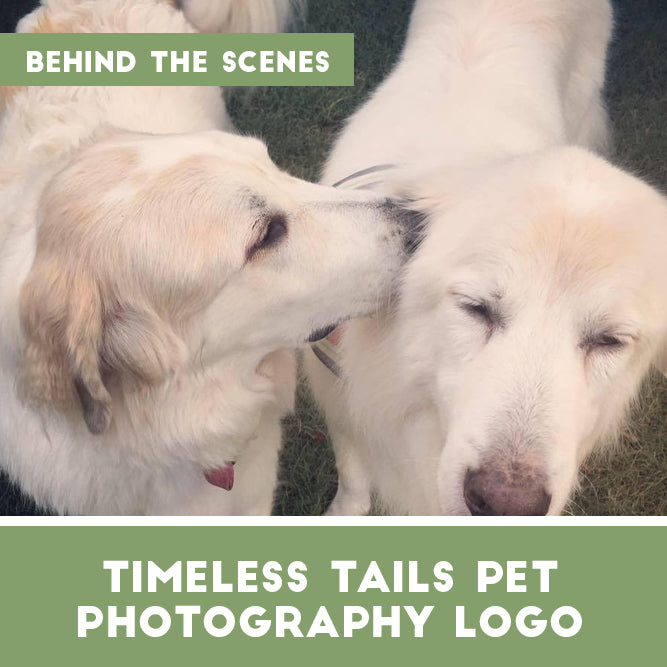 Custom Pet Photography logo [behind the scenes]
