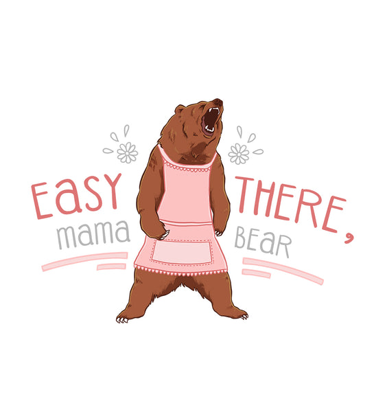 Easy There Mama Bear Custom Blog Logo