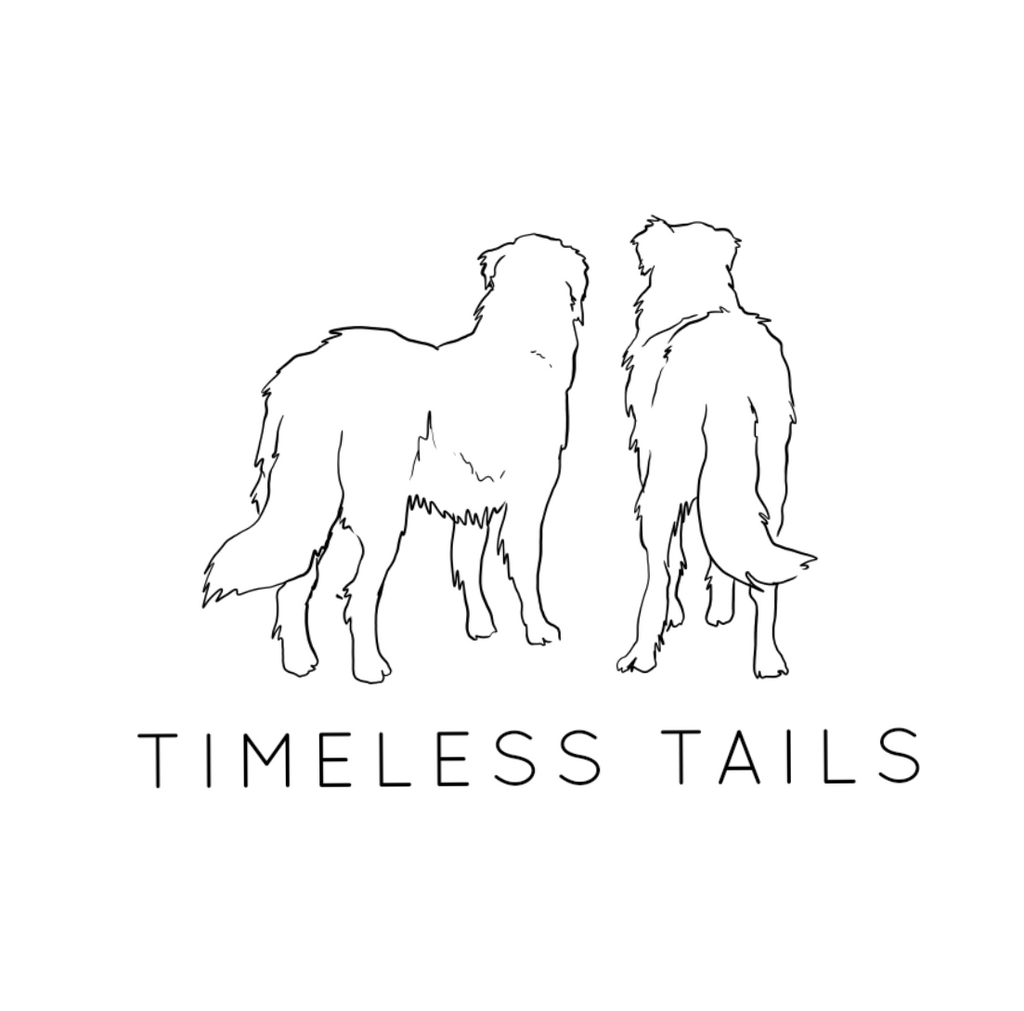 timeless tails pet photography logo design draft great pyrenees