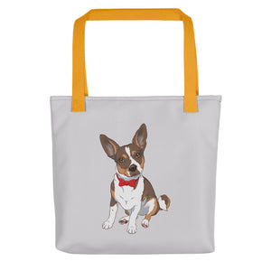 Rat Terrier Bow Tie Dog Tote Bag - conkberry