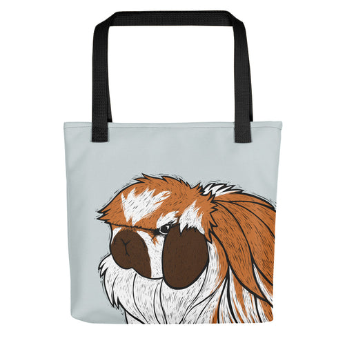 American Fuzzy Lop Rabbit Tote Bag - conkberry